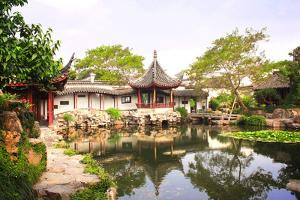 Humble Administrator's Garden in Suzhou, China. Summer Day by frenta