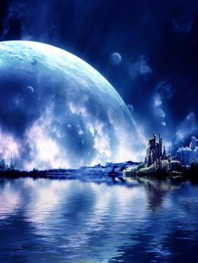 Landscape In Fantasy Planet by frenta