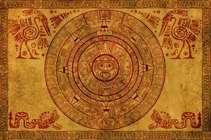 Maya Calendar On Ancient Parchment by frenta