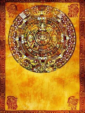 Maya Calendar On Ancient Wall by frenta