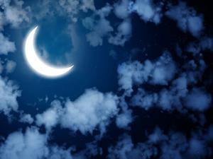Night Fairy Tale - Bright Moon in the Night Sky by frenta