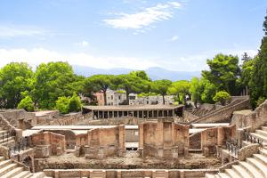 Ruins of Pompeii, Italy. Summer Day by frenta