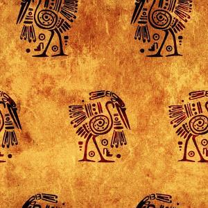 Seamless Background With American Indian Traditional Patterns by frenta