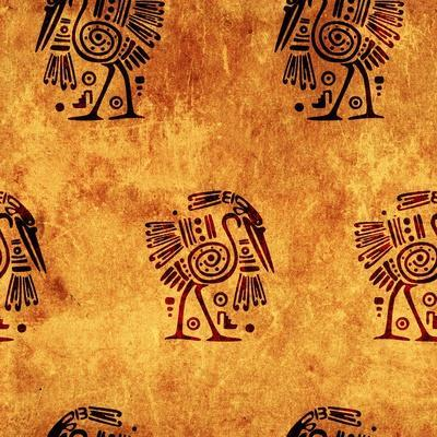 Seamless Background With American Indian Traditional Patterns