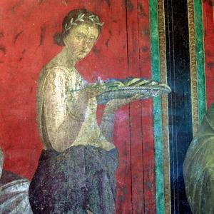 Fresco Detail, Initiate Making an Offering, 1st Century BC