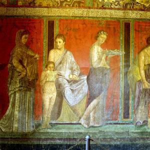 Fresco from the Villa of the Mysteries, Pompeii, Italy, C1st Century Bc-1st Century Ad