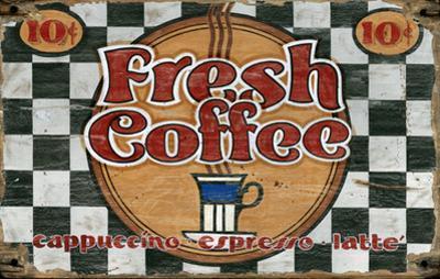 Fresh Coffee Wood Sign