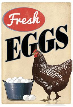 Fresh Eggs Chicken Hen Art Print Poster