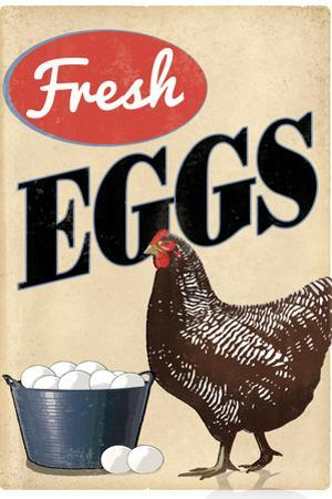 Fresh Eggs Chicken Hen Art Print Poster