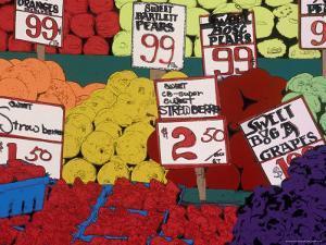 Fresh Fruit in the Pike Place Market, Seattle, Washington, USA