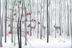 Christmas Tree in the Forest by fresher