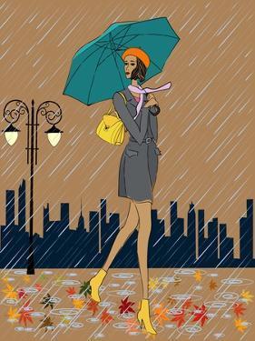 Girl in the Rain by fresher