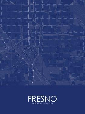 Fresno, United States of America Blue Map