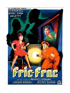 Fric-Frac, French poster art, Arletty, Michel Simon, Fernandel, 1939