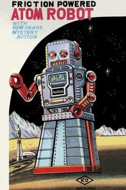 Friction Powered Atom Robot