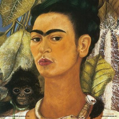 Kahlo- Self-Portrait With Monkey, C.1938