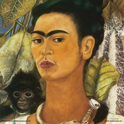 Kahlo- Self-Portrait With Monkey, C.1938 by Frida Kahlo