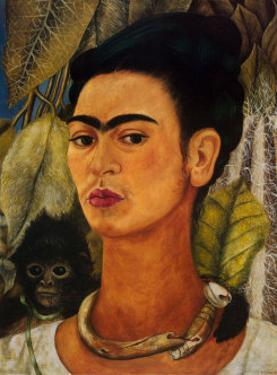 Notable Women Artists - Frida Kahlo - Self-Portrait with Monkey by Frida Kahlo
