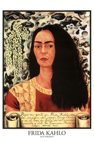 Frida Kahlo (Self Portrait) Plastic Sign