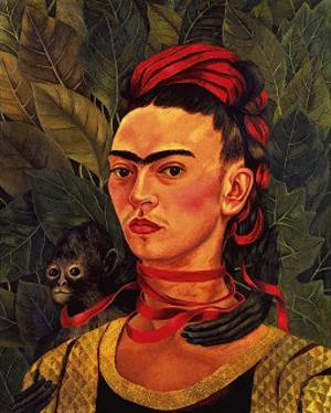 Self Portrait with a Monkey, c.1940 by Frida Kahlo