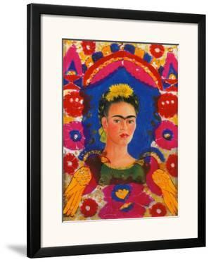 Self-Portrait with Flowers by Frida Kahlo