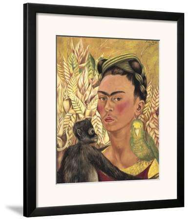 Self-Portrait with Monkey and Parrot, c.1942 by Frida Kahlo