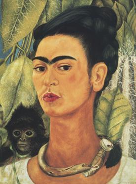 Self-Portrait with Monkey, c.1938 by Frida Kahlo