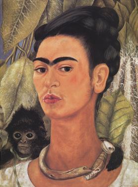 Self-Portrait with Monkey by Frida Kahlo