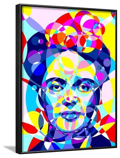 Frida-Cristian Mielu-Framed Art Print