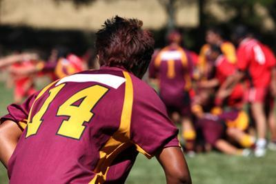 Rugby Player in Action by Friday