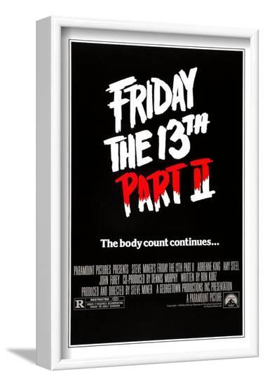 FRIDAY THE 13TH PART 2 [1981], directed by STEVE MINER.--Framed Photographic Print