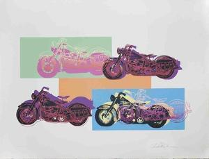 Harley x 4 by Friedbert Renbaum