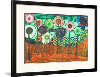 Black Girl, Discovery in the Kingdom of the Toros by Friedensreich Hundertwasser