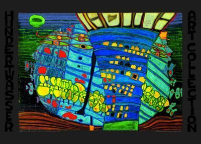 Blue Moon by Friedensreich Hundertwasser