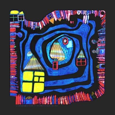 End of the Waters, c.1979 by Friedensreich Hundertwasser