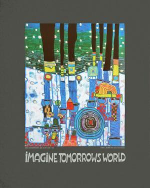 Imagine Tomorrows World (blue) by Friedensreich Hundertwasser
