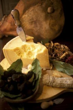 Parmesan, Dried Mushrooms, Black Truffle, Parma Ham by Frieder Blickle