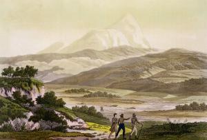 Mount Cayambe, Ecuador, Le Costume Ancien et Moderne, c.1820 by Friedrich Alexander Humboldt