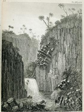 T.1597 Cascade of Regla, Near Mexico, from Vol I of 'Researches Concerning the Institutions and… by Friedrich Alexander Humboldt