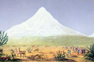 T.1607 Chimborazo, from 'Views of Nature', Pub. C.1850 by Friedrich Alexander Humboldt