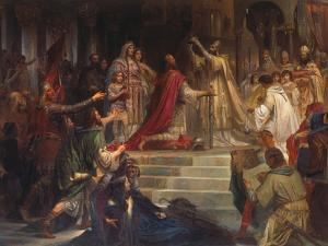 The Coronation of Charlemagne by Friedrich August Von Kaulbach