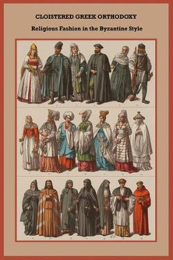Cloistered Greek Orthodoxy Religious Fashion in the Byzantine Style by Friedrich Hottenroth