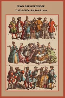 Fancy Dress in Europe 1790's and Rifles Replace Armor by Friedrich Hottenroth