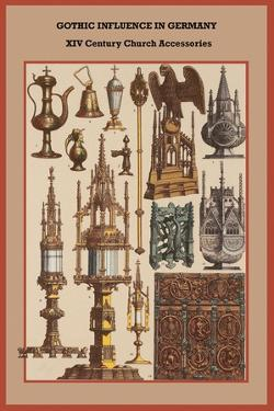 Gothic Influence in Germany XVI Century Church Accessories by Friedrich Hottenroth