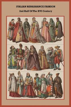 Italian Renaissance Fashion 2nd Half of the XVI Century by Friedrich Hottenroth