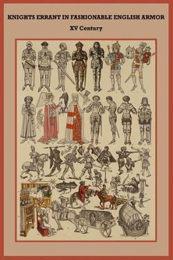 Knights Errant in Fashionable English Armor XV Century by Friedrich Hottenroth