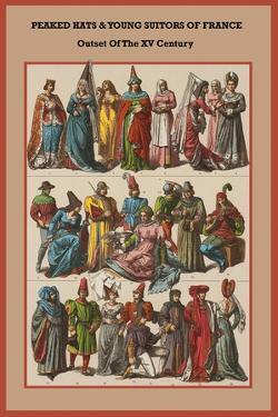 Peaked Hats and Young Suitors of France - Outset of the XV Century by Friedrich Hottenroth