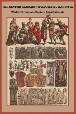 Xii Century, Germany Secular Style - Diversions Capture Royal Interests by Friedrich Hottenroth