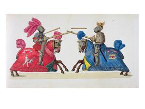 Two Knights at a Tournament, Plate by Friedrich Martin Von Reibisch