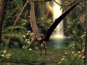Pteranodon Pterosaur, Artwork by Friedrich Saurer